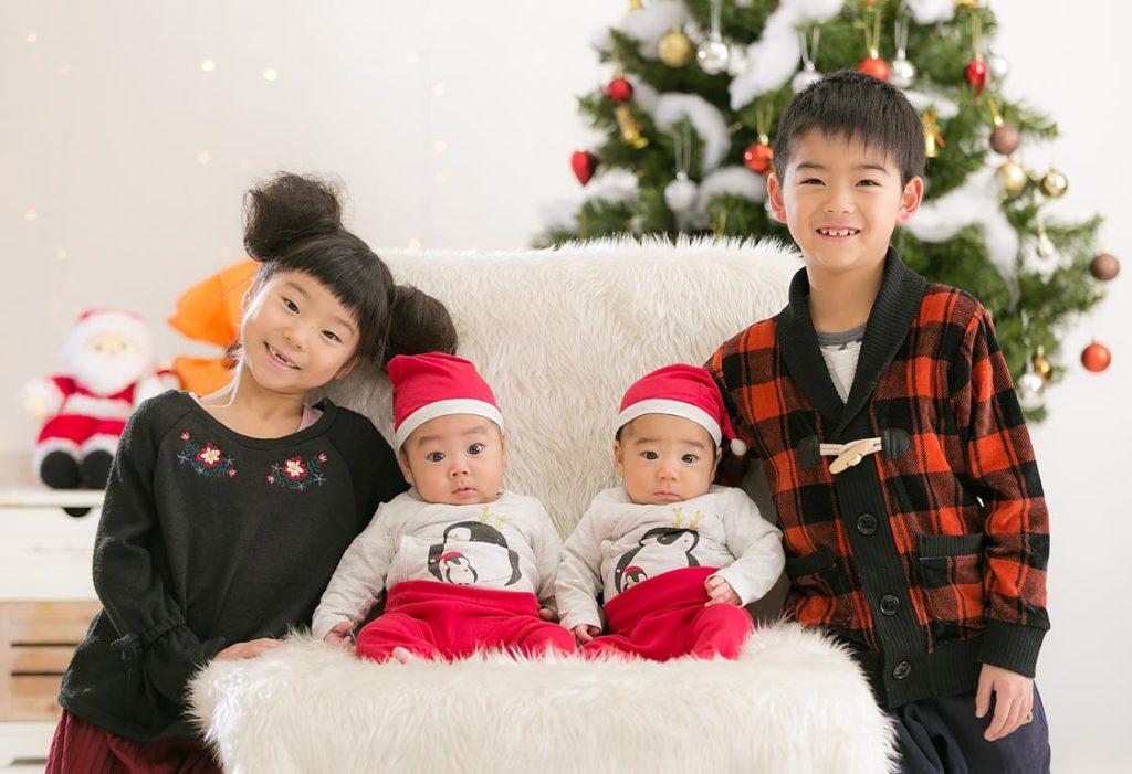クリスマス撮影-兄弟4名