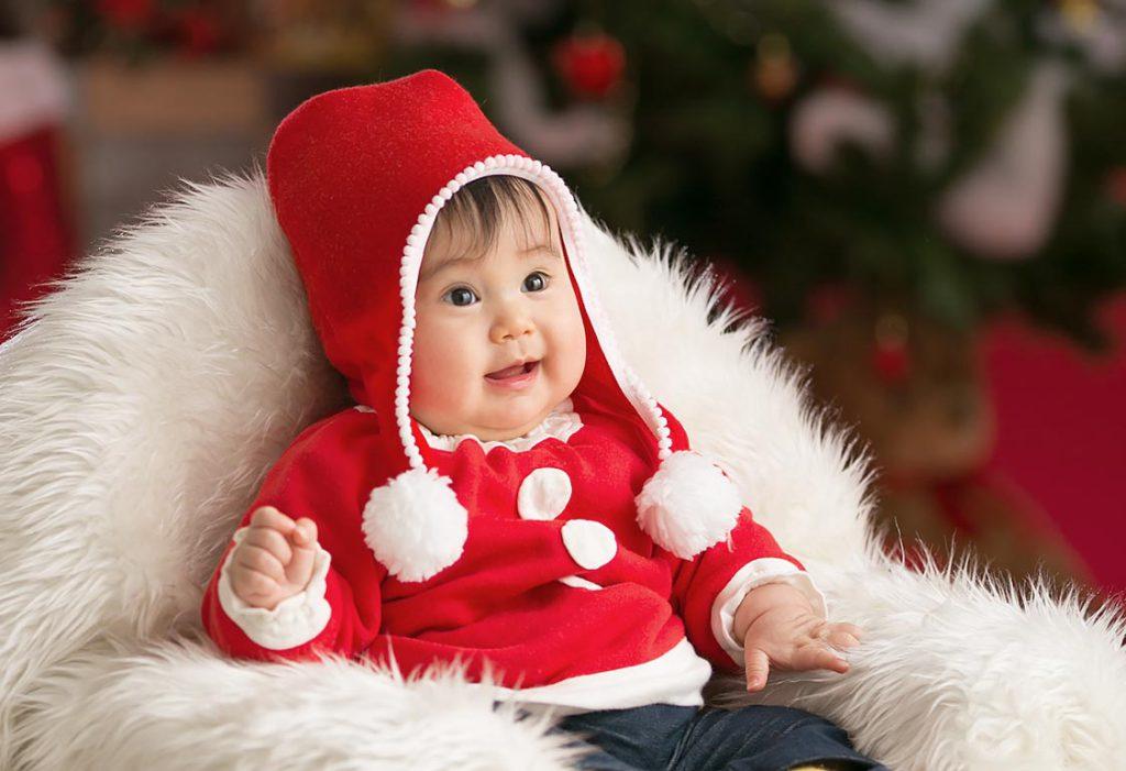 赤ちゃんクリスマス衣装撮影