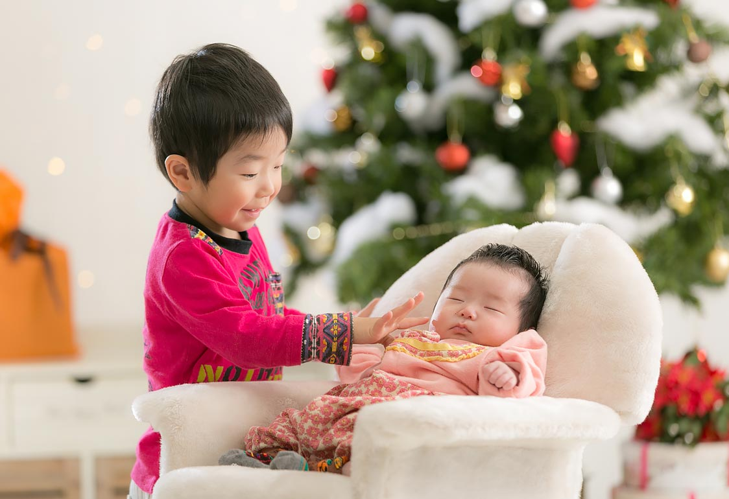クリスマス兄弟撮影
