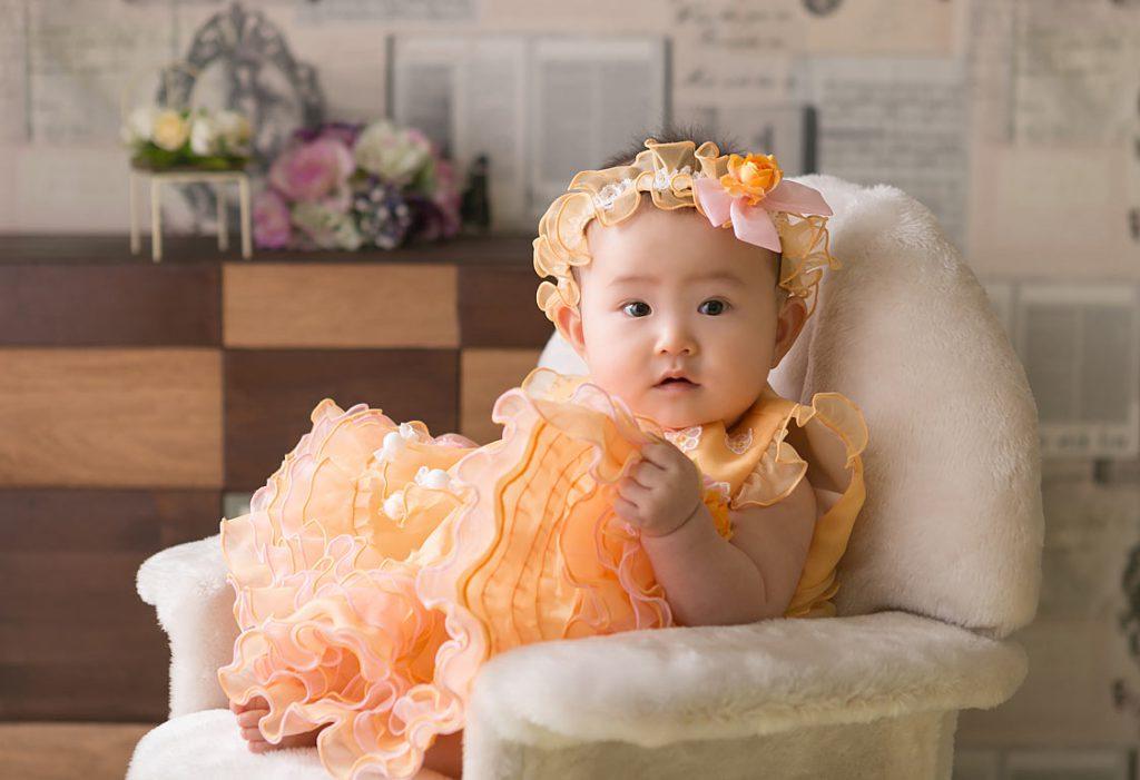 お宮参り女の子-ドレス