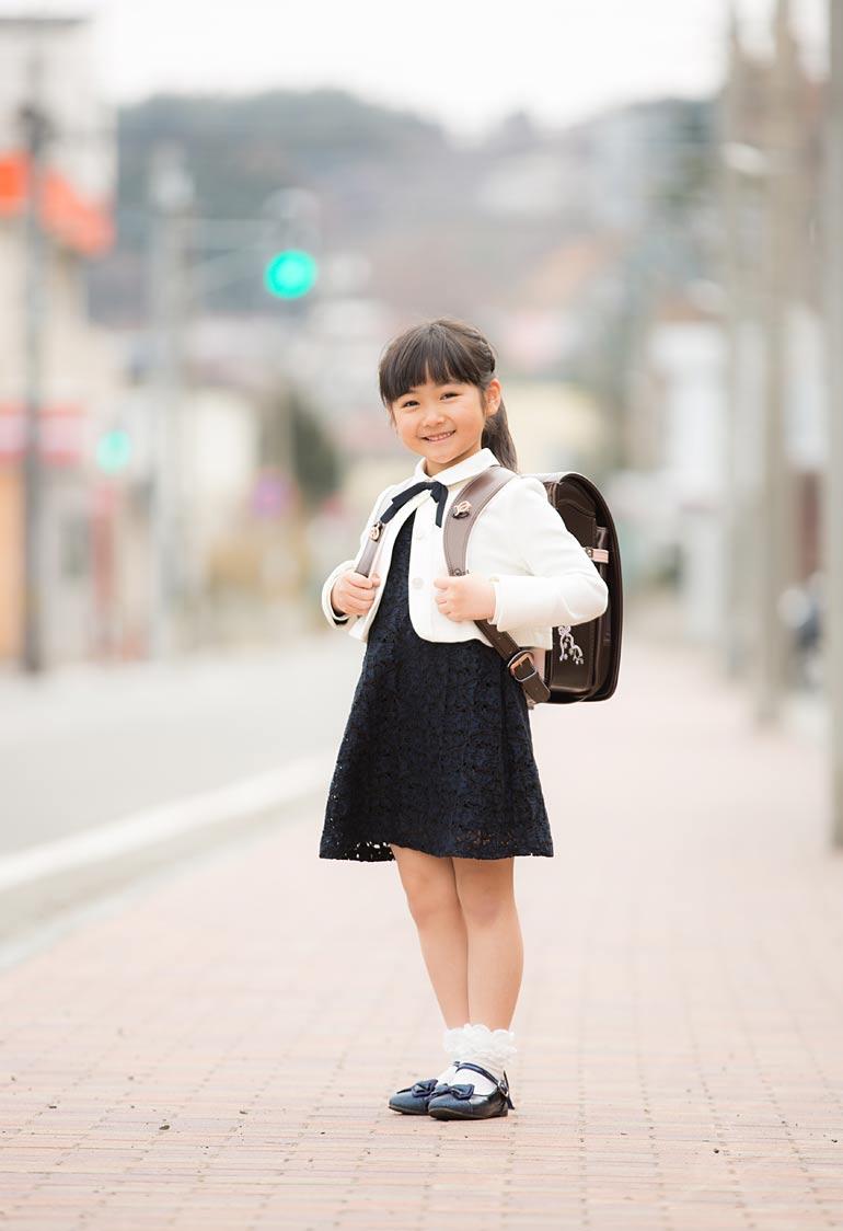 入学で外の撮影