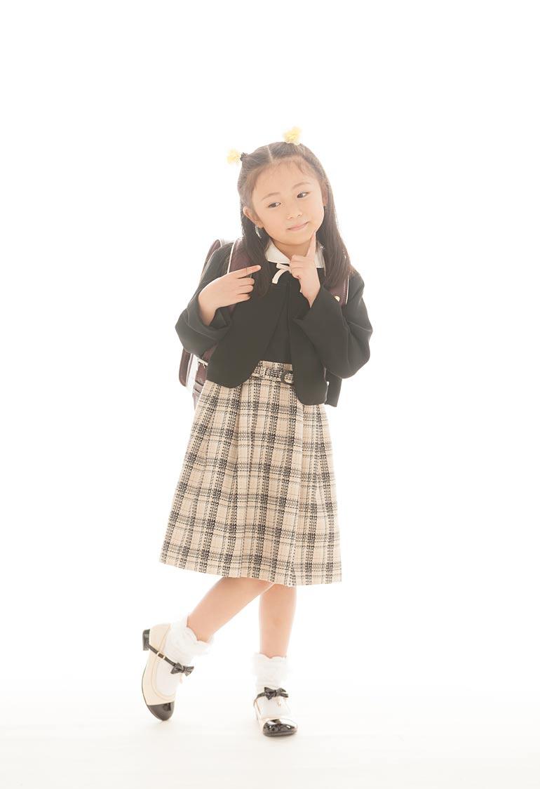 入学記念撮影-女の子の服装