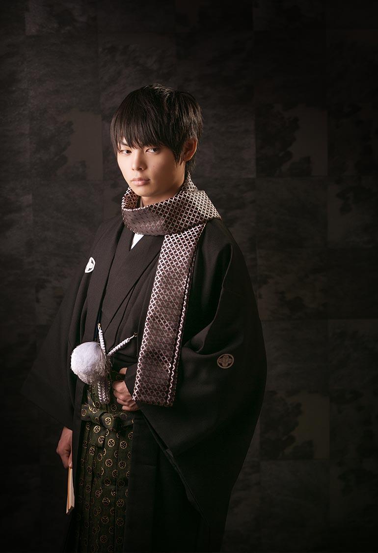 羽織&袴の男性