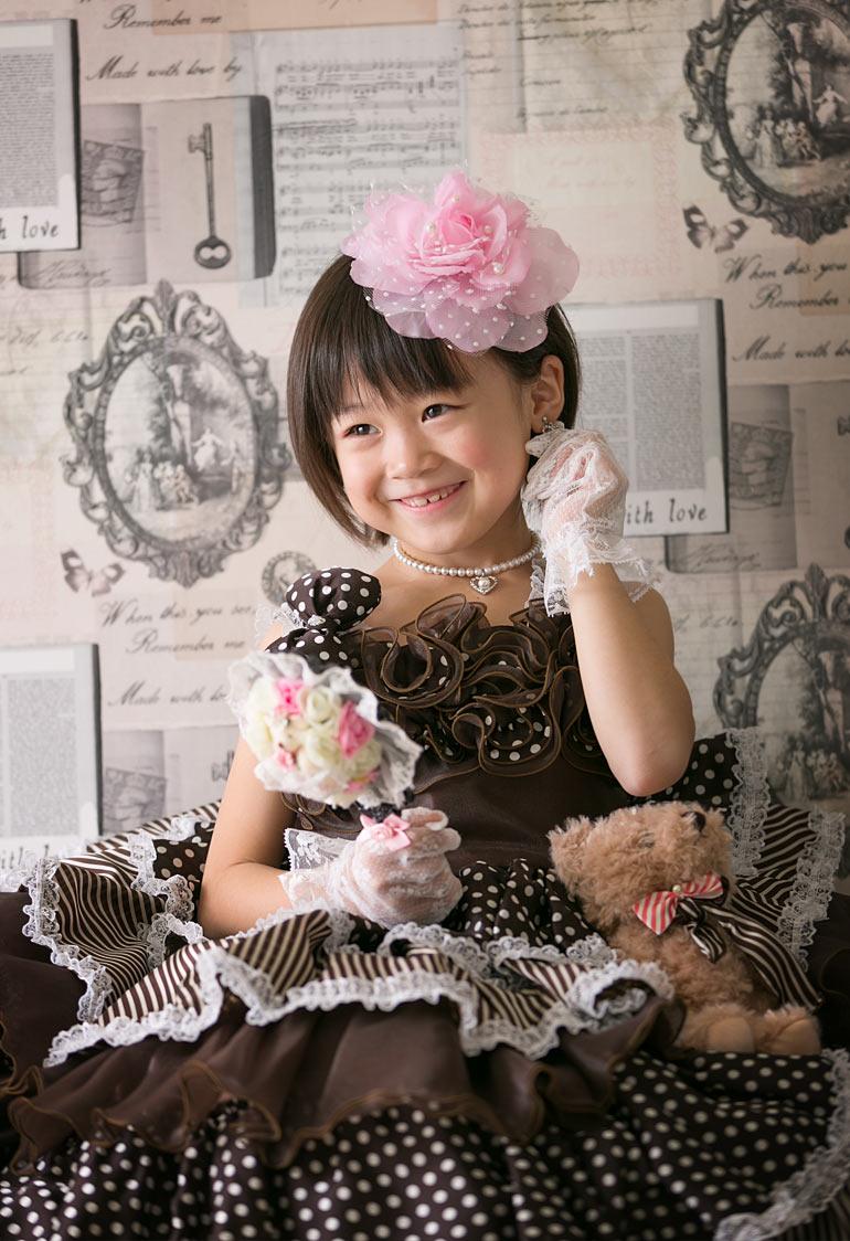 七五三-女の子のドレス撮影