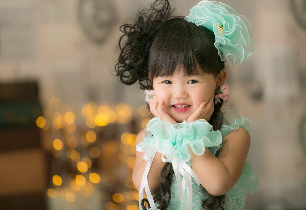 3才の七五三-ドレス写真