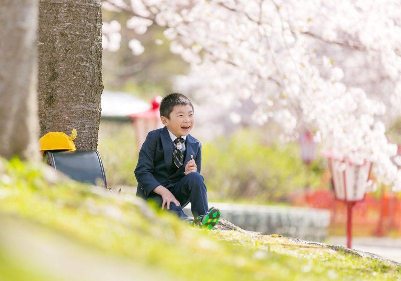 桜-入学写真
